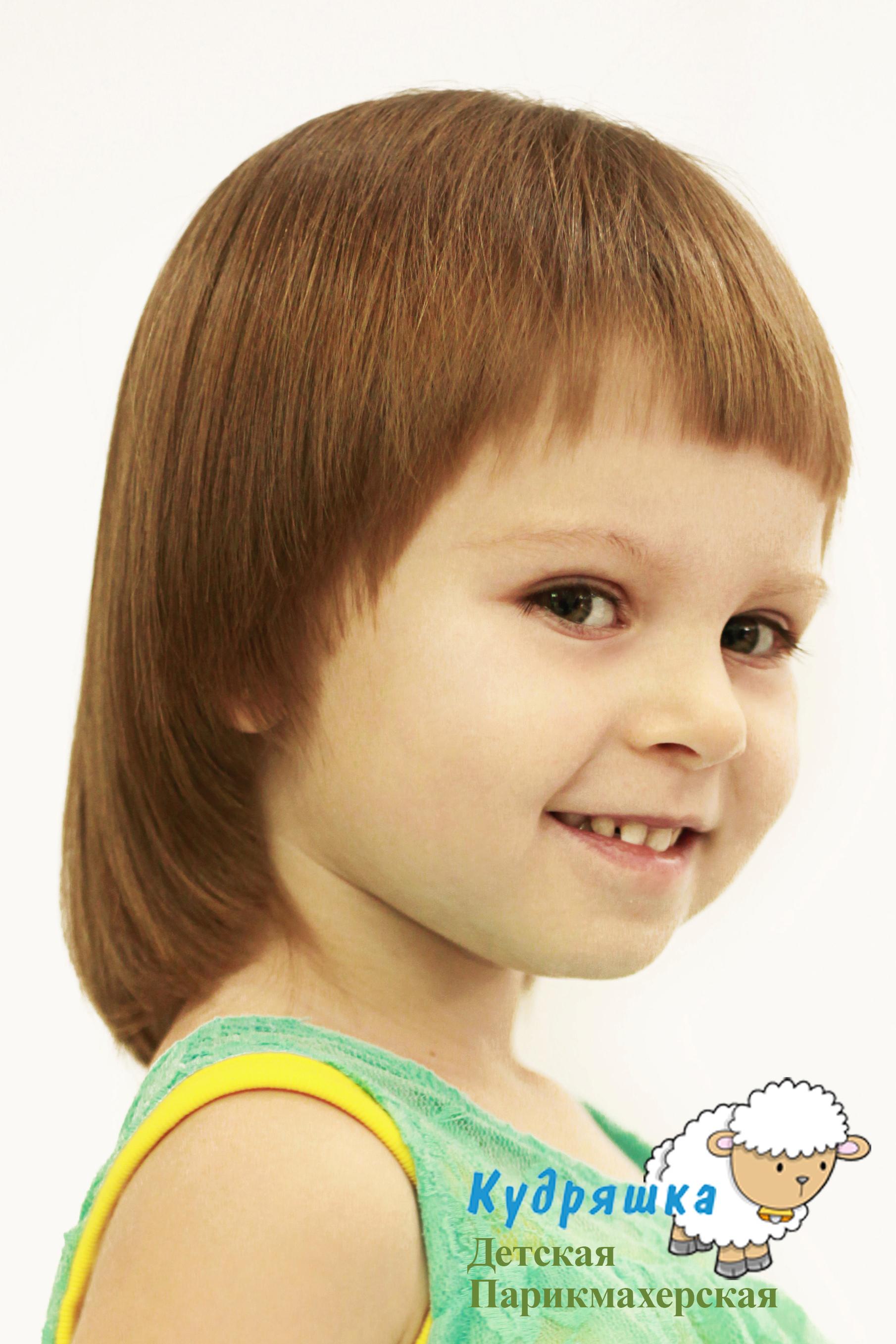 Стрижки на средние волосы детям