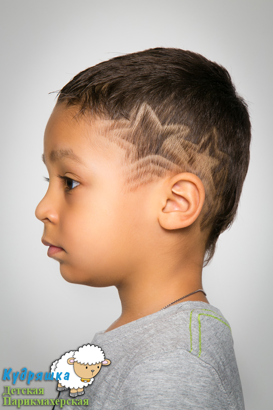 Стрижки рисунки на голове для мальчиков с